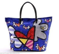 "Romero Britto - Flying Heart Design  21"" Tote Bag Cotton & Polyester #333350 NEW"