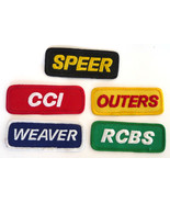 lot 5 gun Co patches Outers RCBS Speer CCI Weaver hunting vintage sporting - $12.00