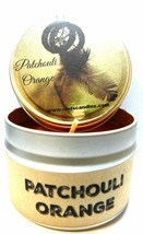 Patchouli Orange 4oz All Natural Soy Candle Tin Take It Any Where Approx... - $8.88