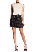 Haute Hippie Goat Suede Paisley Laser Cut Skirt, Size 8, NWT, $695 - $147.51