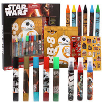 Disney star wars deluxe art set force awakens markers stickers crayons toy - $31.91
