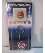 Limited Edition Chief Wahoo Cleveland Indians Trading Pin & Keytag Set 1... - $24.74