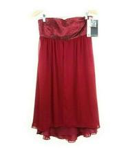 JS Boutique Womens Dress Size 8 Strapless Wine Sequin Formal Below Knee ... - $28.00