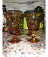 Jamestown Amber Ice Tea Goblets  - $42.00