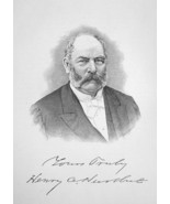 HENRY HURLBUT Connecticut Merchant & Financier Banker - 1895 Portrait Print - $12.60