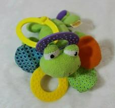 "Infantino Frog Plush Clip On 5"" Stuff Animal Green Rattle Activity Plush... - $11.57"