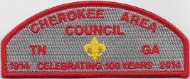 Cherokee Area Council 2014 100th Anniversary CSP (Red) (400 Made) - $7.43