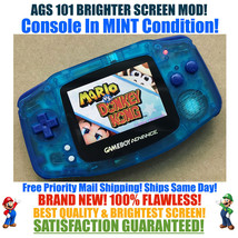 Nintendo Game Boy Advance GBA Sapphire System AGS 101 Brighter Backlit M... - $153.68