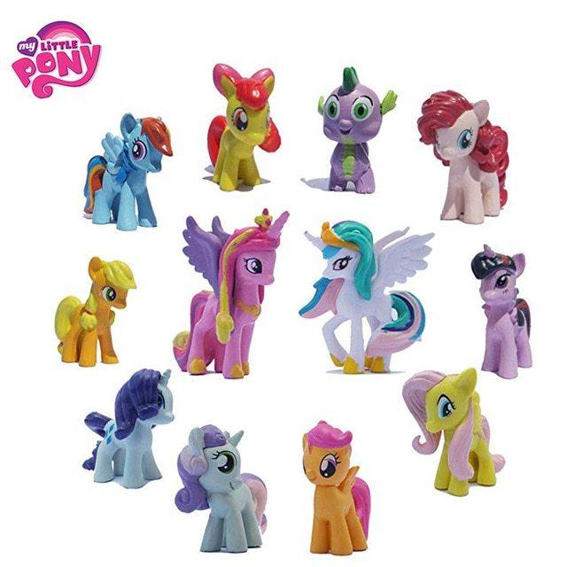 12pcsset hasbro my little pony toys friendship is magic