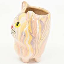 Handmade Ceramic Swirl Small Cactus Succulent Mini Plant Cat Shaped Planter Pot image 2