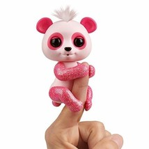 WowWee Fingerlings Glitter Panda - Polly (Pink) - Interactive Collectibl... - $35.99