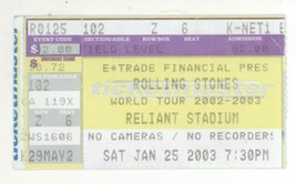 The Rolling Stones 1/25/03 Houston TX Ticket Stub! 1st Concert @ Reliant... - $14.99