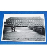 ORIGINAL WW2 GERMAN PHOTO: GENERAL INSPECTS ASSEMBLY OF TROOPS - $12.00