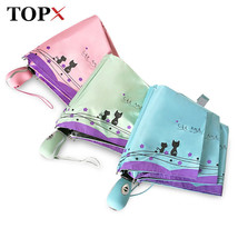 TopX® New Style Cat And Flowers Windproof Ultralight Sun Rain Automatic ... - $22.99