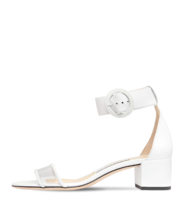 Jimmy Choo 40MM White Leather Sandals | New & Authentic - $539.00