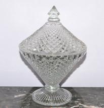 Westmoreland Glassware English Hobnail Crystal 1/2 Half Pound Candy Jar ... - $11.64
