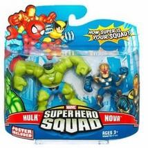 Marvel Superhero Squad Series 15 Mini 3 Inch Figure 2-Pack Hulk and Nova... - $35.99