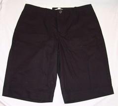 Merona Contour Fit Black Shorts 14 NWT Womens Flat Front - $17.44