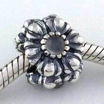 Authentique Pandora Anniversaire Fleurs Juin Argent Sterling Perle Breloque - $67.44