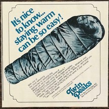 1979 Twin Peaks San Francisco Ad Refreshing Approach to Sleeping Bag Design - $8.75