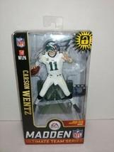 Carson Wentz Philadelphia Eagles McFarlane Toys NFL Madden 19 Gold Team ... - $19.79