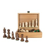 Tournament Staunton Chess Pieces in Wooden OLIVE Box - 3,5 King - $64.29