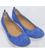 Nine West 'Carmen' blue suede round toe slip on casual ballet flats 5M 6085 - $30.53