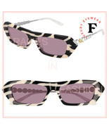 GUCCI STAR 0642 Silver Zebra Print Crystal Cat Eye Runway Sunglasses GG0... - $393.62