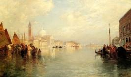 The Grand Canal Venice Gondolas Italy Landscape Painting By Thomas Moran Repro - $10.96+
