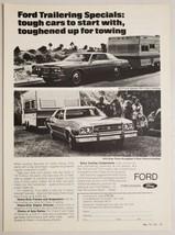 1973 Print Ad Ford Galaxie & Gran Torino Brougham Pull Travel Trailers - $14.83