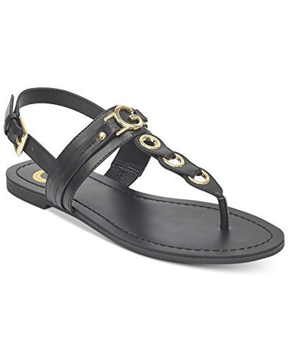 G by GUESS Lesha Women's Flat Sandals (8, Black)