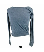 Planet Gold Juniors Crop Top Sweater Size S Small Juniors Gray - $33.66