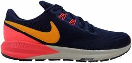 Nike Air Zoom Structure 22 Blackened Blue/Orange Peel AA1640-400 Womens Size 8.5 - $108.00