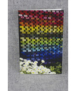 Rainbow of stripes Sisters Oregon Quilt show 4x6 Photo Notecard Blank No... - $4.25