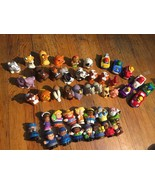 Lot Of 44 Fisher Price Little People & Animals Figures and Vehicles - $37.36