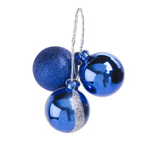 Christmas Floral Blue And Silver Christmas Ornament Pick Wave 3 Tips - $15.00