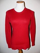 GAP Luxe Red Long Sleeve Sweater Womens Size Small ek - $14.99
