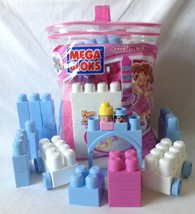 Pink Girls Mega Bloks 8466 Building Block Set 80 Pcs Plus 28 Extra Pcs - $18.95