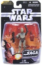 Star Wars 2006 Saga Collection 017 C-3PO with Battle Droid Head EPII AOT... - $13.22