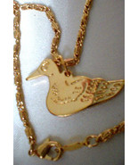 Duck Dynasty Gold Layered Bird Pendant  16 Inch Chain Lifetime Guaranteed - $25.50