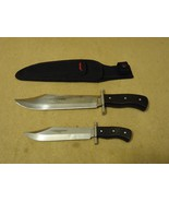 Humvee Hunting Knife Set Black/Stainless Sheath... - $58.19