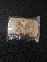 ฺBelt buckle RTAF Thai Air Force Soldier gold color RTAF Collectible Militaria - $14.03