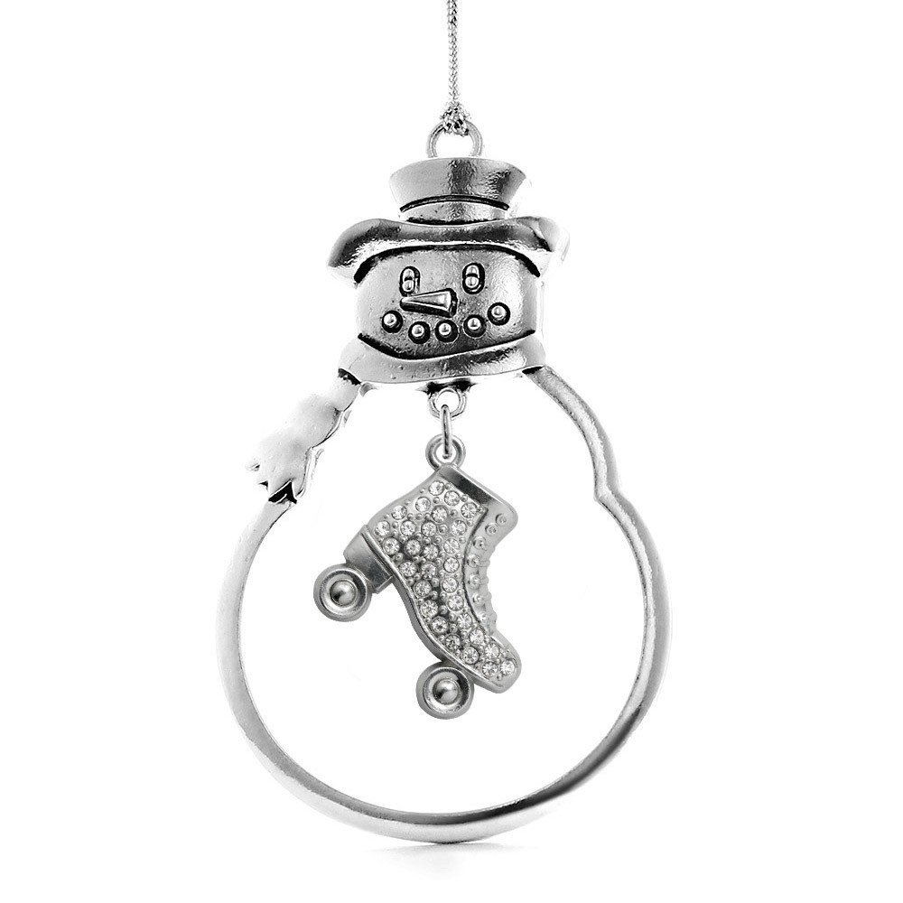 Primary image for Inspired Silver 1.0 Carat Roller Skate Snowman Holiday Christmas Tree Ornament