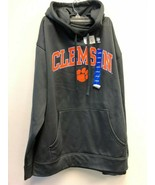 CLEMSON SWEATER HOODIE GRAY/ ORANGE, SZ LARGE - $28.49