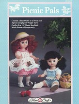 "Picnic Pals, Fibre Craft 13"" Doll Clothing Crochet Pattern Booklet FCM275 - $3.95"