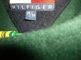 "D23 M Wool HILFIGER DUFFLE COAT green hooded zip & toggles 25"" arms overcoat - $99.99"