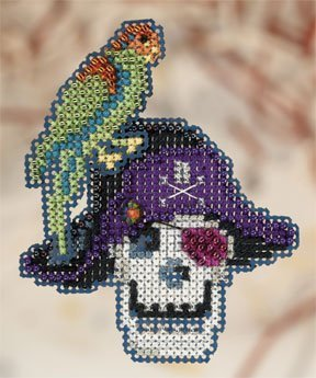 Primary image for Irate Pirate 2010 beaded ornament pin kit Mill Hill