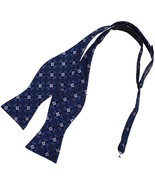 DBA7B23H Dark Blue Paisley Bow Tie Microfiber Best For Boyfriends Hand-m... - $13.38