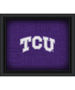 "TCU Horned Frogs ""College Logo Plus Word Clouds"" - 15 x 18 Framed Print - $49.95"