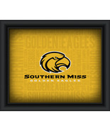 "Southern Mississippi ""College Logo Plus Word Clouds"" - 15 x 18 Framed Print - $49.95"